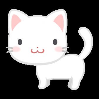 白い子猫の無料ベクターイラスト素材