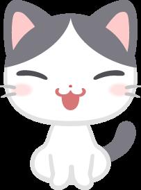 おすわりするぶち猫の無料ベクターイラスト素材