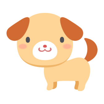 茶色い子犬の無料ベクターイラスト素材