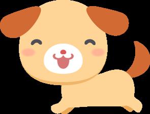 元気に走り回る茶色い子犬の無料ベクターイラスト素材