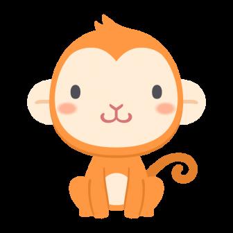 猿の無料ベクターイラスト素材