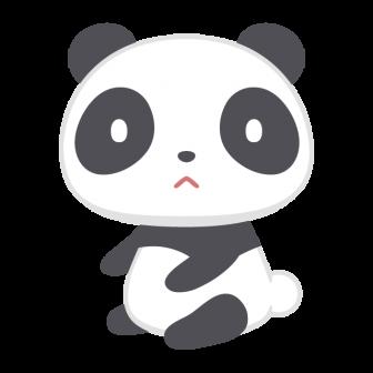 パンダの無料ベクターイラスト素材