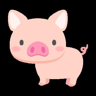 豚の無料ベクターイラスト素材
