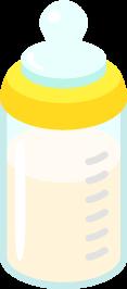 哺乳瓶に入ったミルクの無料ベクターイラスト素材