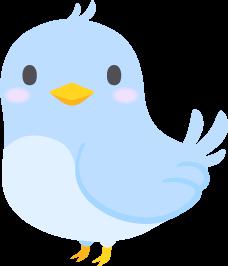 青い鳥の無料ベクターイラスト素材
