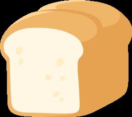 山型食パン(山食)の無料ベクターイラスト素材