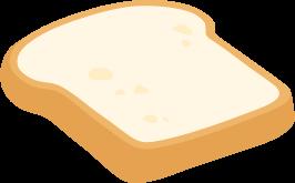 山型食パン(山食)1枚の無料ベクターイラスト素材
