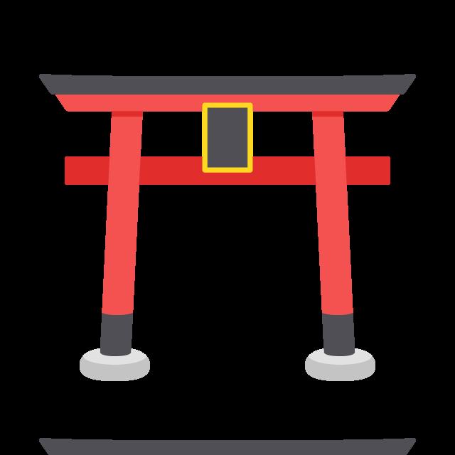 神社の鳥居の無料ベクターイラスト素材
