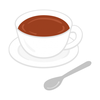 コーヒーカップに注がれたホットコーヒーの無料ベクターイラスト素材