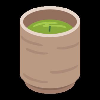 緑茶(茶柱つき)の無料ベクターイラスト素材