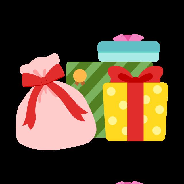 たくさんのプレゼントの無料ベクターイラスト素材