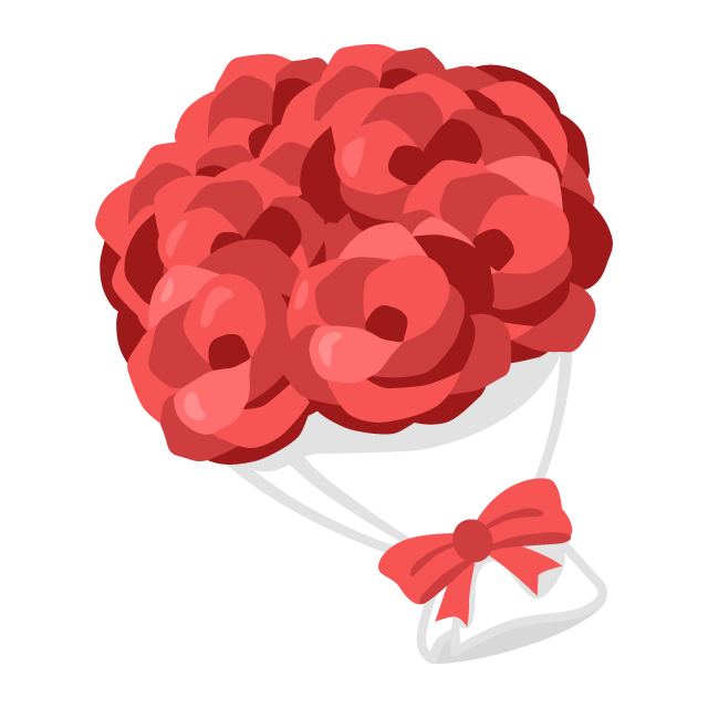 赤いバラの花束の無料ベクターイラスト素材