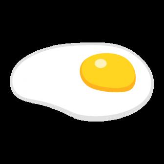 目玉焼きの無料ベクターイラスト素材