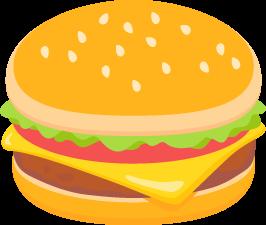 ハンバーガーの無料ベクターイラスト素材