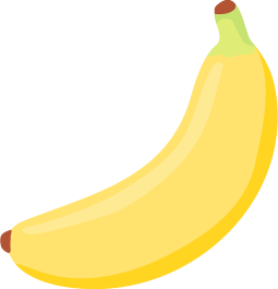 黄色いバナナ(1本)の無料ベクターイラスト素材