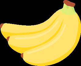 黄色いバナナ(1房)の無料ベクターイラスト素材