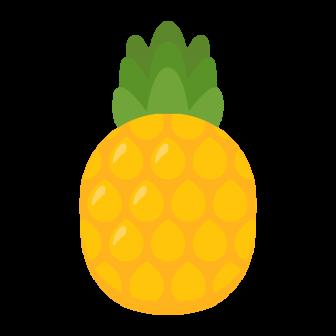 パイナップルの無料ベクターイラスト素材