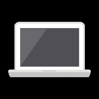 ノートPC(白)の無料ベクターイラスト素材