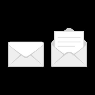 メールアイコンの無料ベクターイラスト素材
