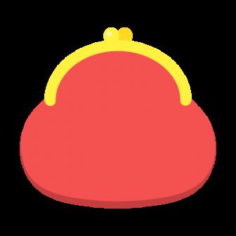 赤いがま口財布の無料ベクターイラスト素材