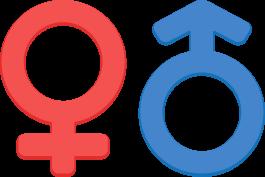 男女のマーク(性別記号)の無料ベクターイラスト素材