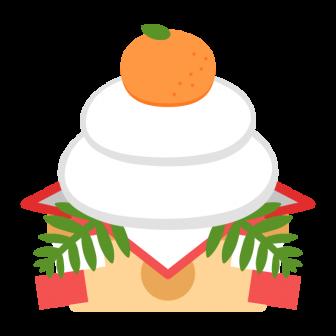 お正月に飾る鏡餅の無料ベクターイラスト素材
