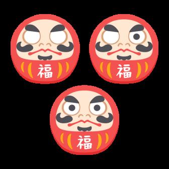 赤だるま/3種の無料ベクターイラスト素材