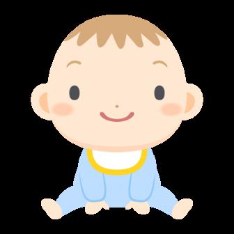 おすわりする赤ちゃんの無料ベクターイラスト素材