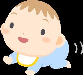 はいはいする赤ちゃんの無料ベクターイラスト素材