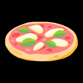 ピザ マルゲリータの無料ベクターイラスト素材