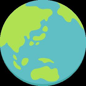 地球の無料ベクターイラスト素材
