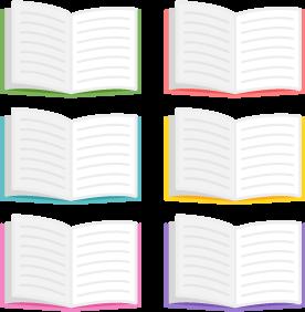 ノート/6色の無料ベクターイラスト素材