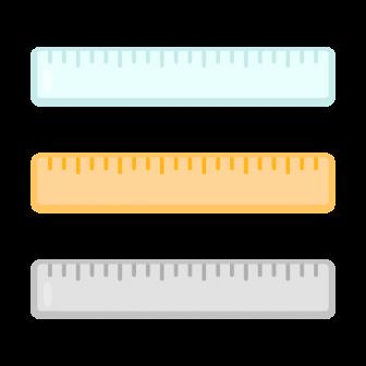 定規(ものさし)/3種の無料ベクターイラスト素材