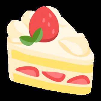 いちごの生クリームケーキの無料ベクターイラスト素材
