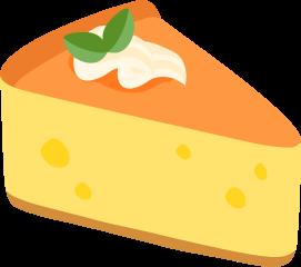 生クリームが乗ったチーズケーキの無料ベクターイラスト素材