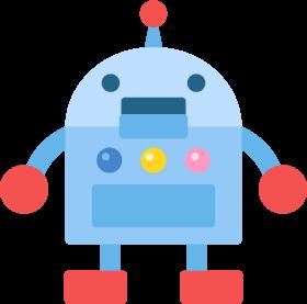 ロボットの無料ベクターイラスト素材 - PICaboo! (ピカブー!)| 無料ベクターイラスト素材