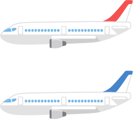 飛行機/2色の無料ベクターイラスト素材