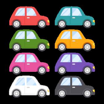 自動車/8色の無料ベクターイラスト素材