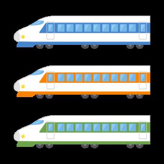 新幹線/3色の無料ベクターイラスト素材