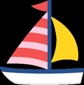 ヨットの無料ベクターイラスト素材