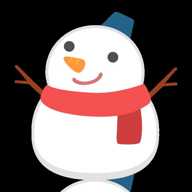雪だるまの無料ベクターイラスト素材