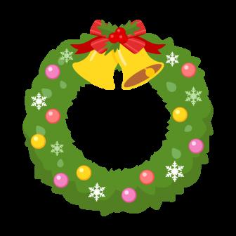 シンプルなクリスマスリースの無料ベクターイラスト素材