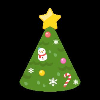 クリスマスツリーの三角帽子の無料ベクターイラスト素材
