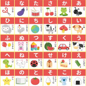 基本のあいうえお表(ひらがな50音)の無料印刷用PDF