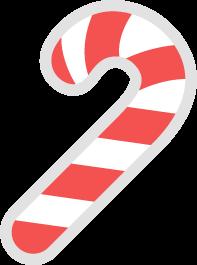 クリスマス飾りのキャンディケーンの無料ベクターイラスト素材