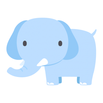 ゾウの無料ベクターイラスト素材