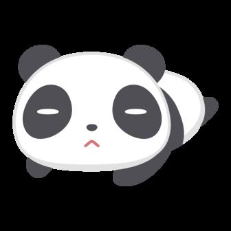 ゴロゴロしているパンダの無料ベクターイラスト素材