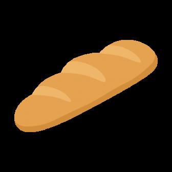 短いフランスパンの無料ベクターイラスト素材