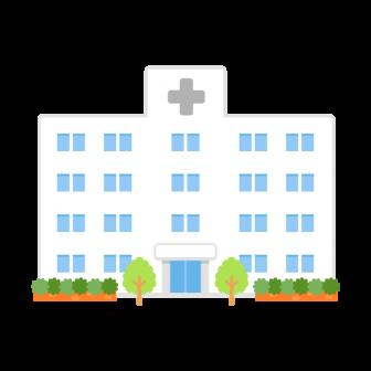 大きな総合病院の無料ベクターイラスト素材