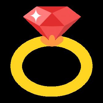 ルビーの指輪の無料ベクターイラスト素材